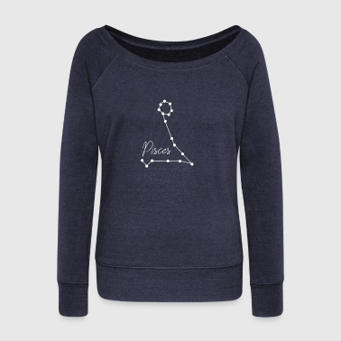 Pisces,horoscope sign - Women's Wideneck Sweatshirt
