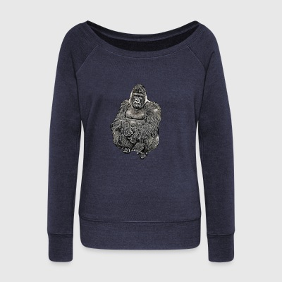 Comic Gorilla - Women's Wideneck Sweatshirt