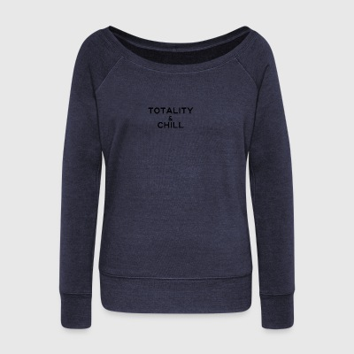 Totality and Chill - Women's Wideneck Sweatshirt