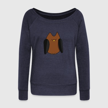 owl - Women's Wideneck Sweatshirt