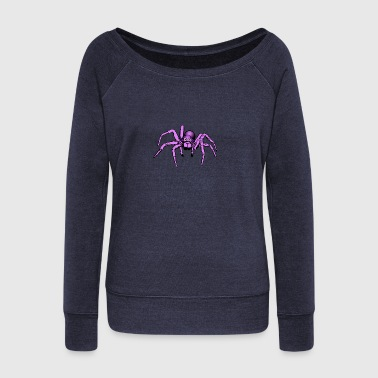 pink giant spider - Women's Wideneck Sweatshirt