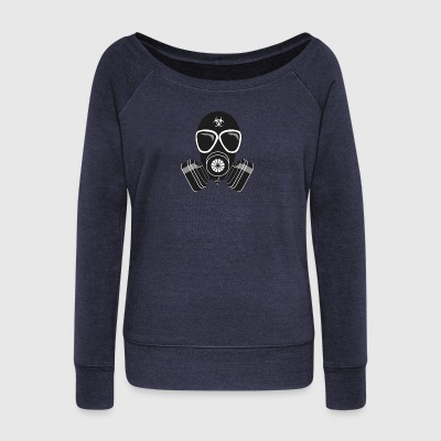 gas mask - Women's Wideneck Sweatshirt