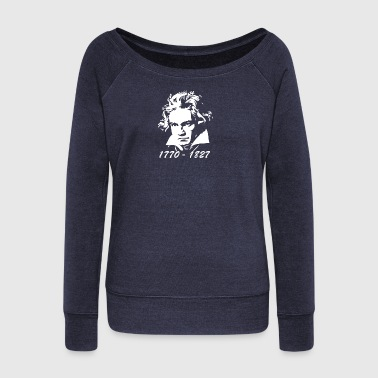 Beethoven Tribute - Women's Wideneck Sweatshirt