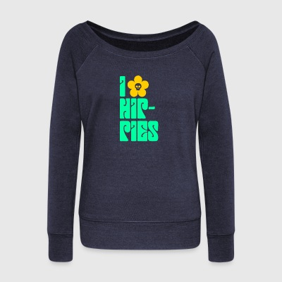 Hippies Retro - Women's Wideneck Sweatshirt