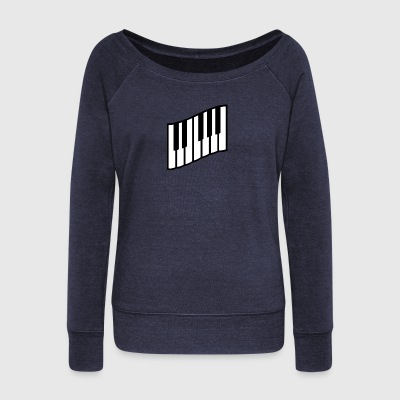 piano - Women's Wideneck Sweatshirt