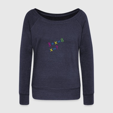 mathematics - Women's Wideneck Sweatshirt