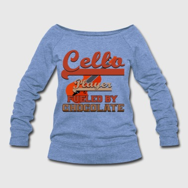 Bridge Cellist - Cello Player Fueled By Chocolate - Women's Wideneck Sweatshirt