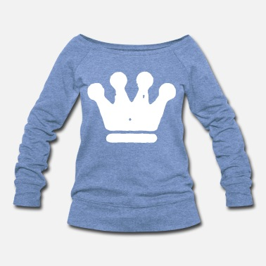 Rustic Grungy Crown - Women's Wideneck Sweatshirt