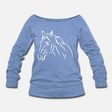 Horse Head Horse - Women's Wideneck Sweatshirt