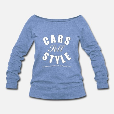 Cars Sell Style White - Women's Wideneck Sweatshirt