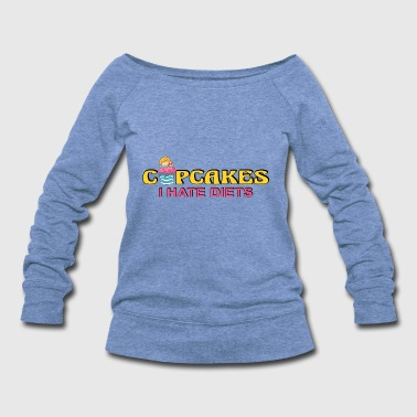 Cupcake Muffin Bakery Cake Candy Sweets Cookie - Women's Wideneck Sweatshirt