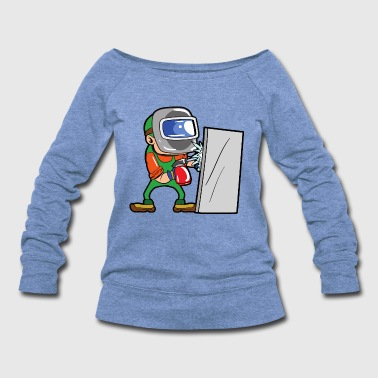Iron Metal Welder Craftsman - Women's Wideneck Sweatshirt