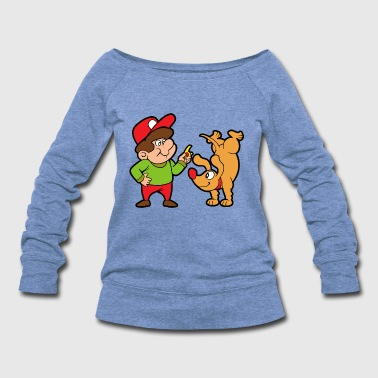 Dog Trainer Pets Animals - Women's Wideneck Sweatshirt