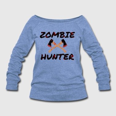 Blood Stains Zombie Hunter - Horror Infects Undead Blood Stain - Women's Wideneck Sweatshirt
