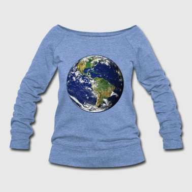 Planet Earth - Women's Wideneck Sweatshirt