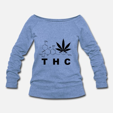 Skunk THC CHEMICS - Women's Wideneck Sweatshirt