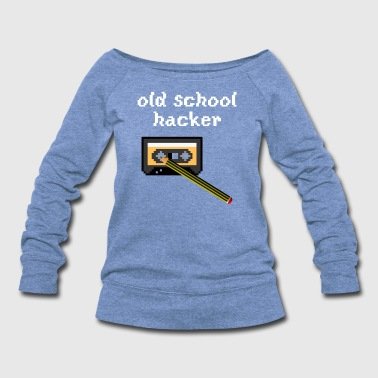 old school hacker - Women's Wideneck Sweatshirt