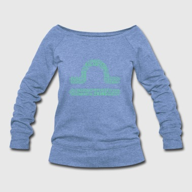 Sign Of Zodiac Libra Sign Traits - Women's Wideneck Sweatshirt