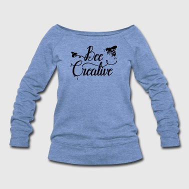 Bee Creative - Women's Wideneck Sweatshirt