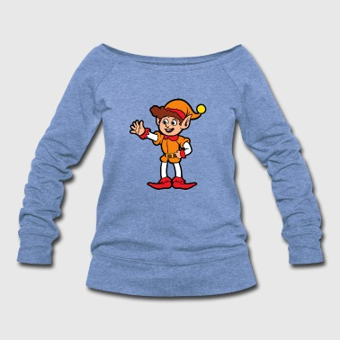 Christmas Xmas Elf Elves - Women's Wideneck Sweatshirt