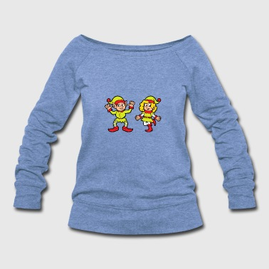 Suit Funny Cool Cute Christmas Elf Elves Xmas Gifts - Women's Wideneck Sweatshirt
