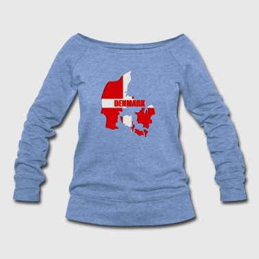 Denmark map - Women's Wideneck Sweatshirt