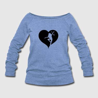 Dancing music heart - Women's Wideneck Sweatshirt