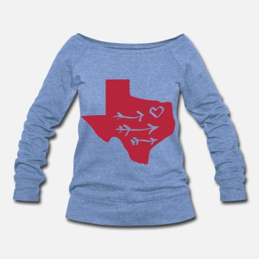 Texas texas love - Women's Wideneck Sweatshirt