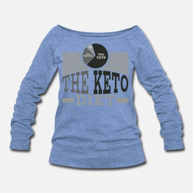 Fan Keto Diet Diet Ketogenic Ketosis Health Fats Gift - Women's Wideneck Sweatshirt