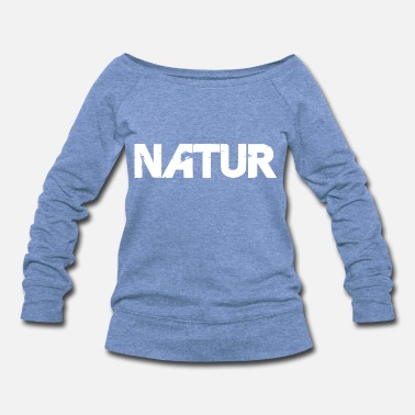 Large Nature lettering white - Women's Wideneck Sweatshirt