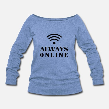 Online online - Women's Wide-Neck Sweatshirt