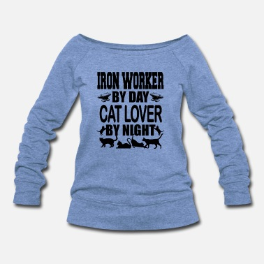 Iron Worker iron worker by day - Women's Wideneck Sweatshirt