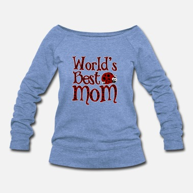 Ladybug World's BestMom Ladybugs - Women's Wideneck Sweatshirt