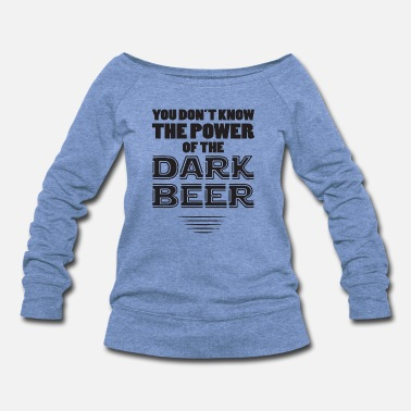 Black-power the power of black - Women's Wide-Neck Sweatshirt