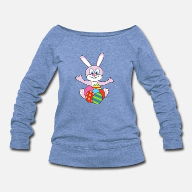 Catholic Easter Bunny - Women's Wideneck Sweatshirt