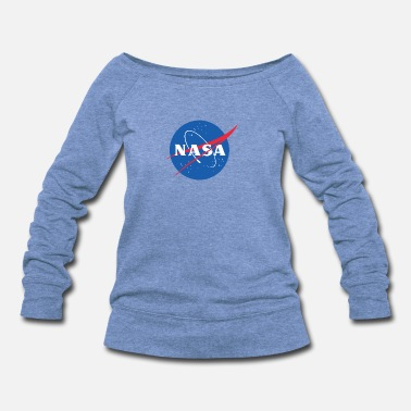 Nasa TSC Spacey - Women's Wide-Neck Sweatshirt