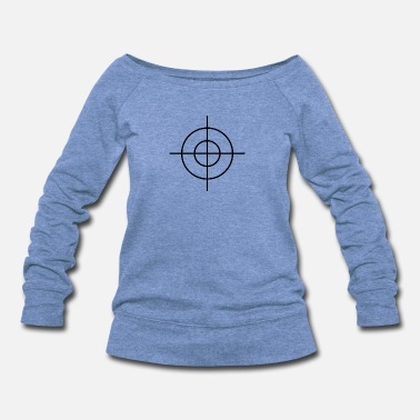 Crosshair Crosshair - Women's Wide-Neck Sweatshirt