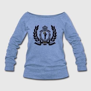 Conscious Queen (Crest) - Women's Wideneck Sweatshirt