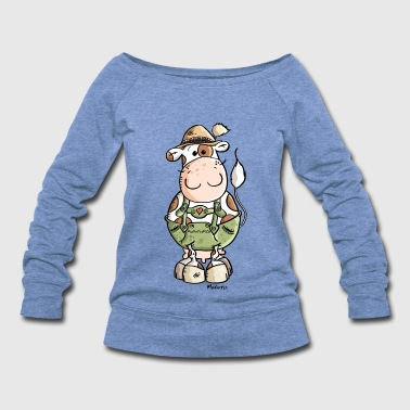 Bavarian Cow - Women's Wideneck Sweatshirt