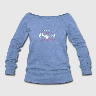 Since 1970 Original Aged To Perfection - Women's Wideneck Sweatshirt