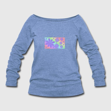 Flowers and colors - Women's Wideneck Sweatshirt