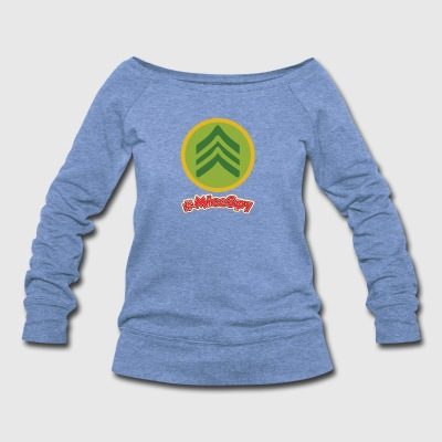Sarges Surplus Hut Explorer Badge - Women's Wideneck Sweatshirt