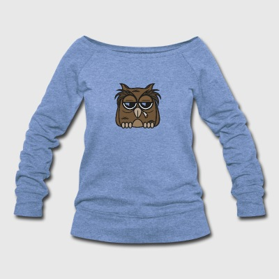 Smoking Owl - Women's Wideneck Sweatshirt