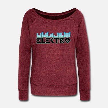 Electro Electro - Women's Wide-Neck Sweatshirt