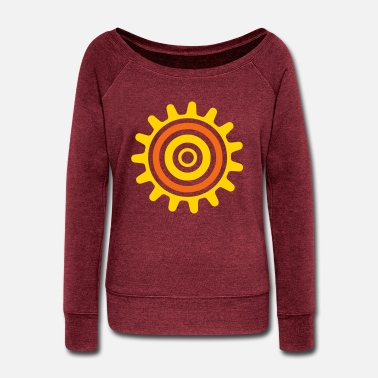 Color cogwheel - Women's Wide-Neck Sweatshirt
