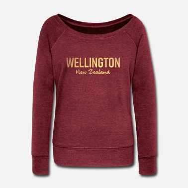 Auckland Wellington - New Zealand - Aotearoa - Kiwi - Maori - Women's Wide-Neck Sweatshirt