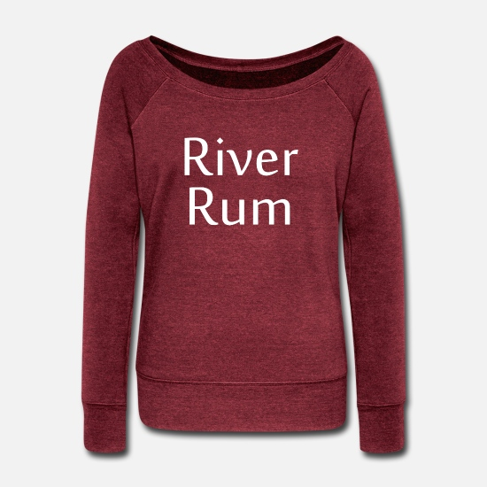 Ruminants Hoodies & Sweatshirts - River Rum Shirt - Women's Wide-Neck Sweatshirt cardinal triblend