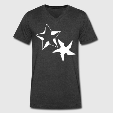 cool stars art  - Men's V-Neck T-Shirt by Canvas
