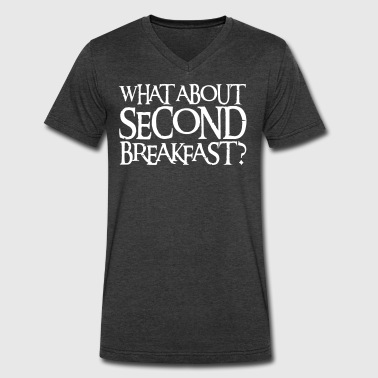 WHAT ABOUT SECOND BREAKFAST? - Men's V-Neck T-Shirt by Canvas