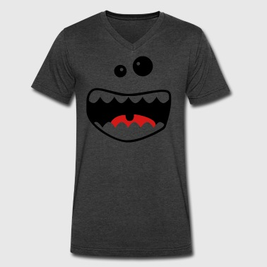 monster face - Men's V-Neck T-Shirt by Canvas